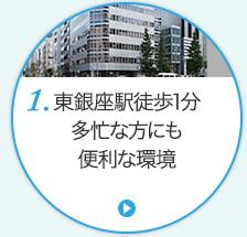 東銀座駅徒歩1分 多忙な方でも便利な環境